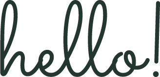 Hello written in large script